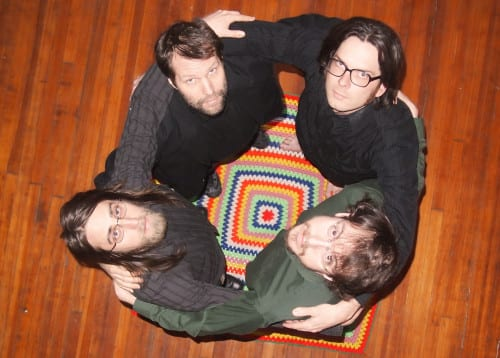 The Canticle singers (clockwise from left): Gavin Riley, Adam Endres, Drew Swinburne, Connor Kizer