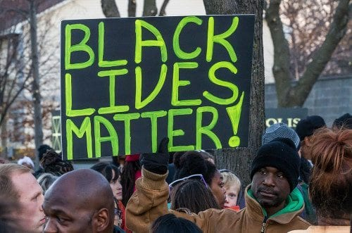 From a Black Lives Matter protest in Minneapolis. Photo by Tony Webster.