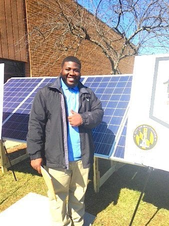 Baltimore City's Michael Harris is on his way to a career in the growing solar field.