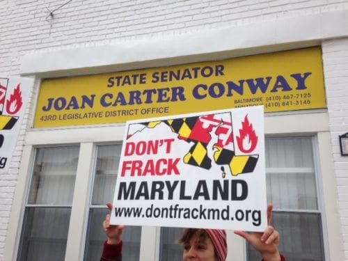 A key Maryland Senator in deciding fracking's fate is Baltimore City's Joan Carter Conway. Conway chairs the Senate's Education, Health and Environmental Affairs Committee.